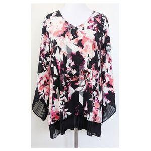 ALFANI Floral Tunic Top NWT Size XL